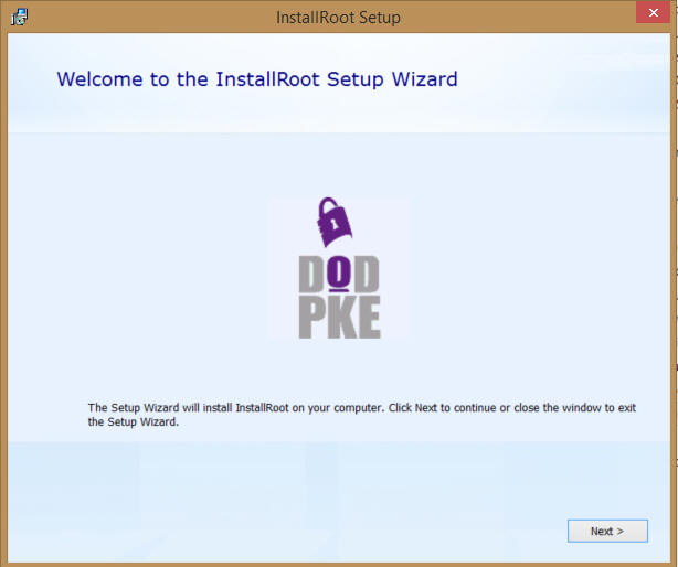 WelcomeToTheInstallRootSetupWizard
